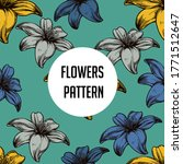 colorful flower pattern... | Shutterstock .eps vector #1771512647