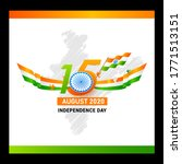 15 august 2020  independence... | Shutterstock .eps vector #1771513151