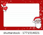 a letter to santa claus... | Shutterstock .eps vector #1771514021