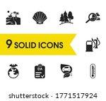 eco icons set with explore...