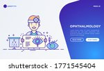 ophthalmology concept. doctor...   Shutterstock .eps vector #1771545404