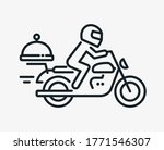 biker food delivery line icon... | Shutterstock .eps vector #1771546307