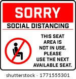 do not sit here signage for...   Shutterstock .eps vector #1771555301