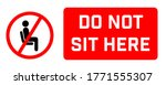 do not sit here signage for...   Shutterstock .eps vector #1771555307