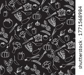 pattern line vegetables design... | Shutterstock .eps vector #1771568984