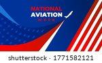 National Aviation Week. Vector...