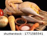 free range farm chicken with...