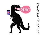 vector illustration with black...   Shutterstock .eps vector #1771637867