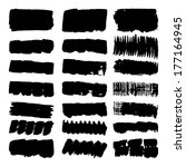set of vector grunge brush... | Shutterstock .eps vector #177164945
