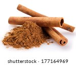 cinnamon sticks with powder... | Shutterstock . vector #177164969