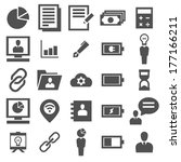 business and finance icon set | Shutterstock .eps vector #177166211