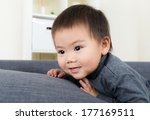 asia baby boy at home | Shutterstock . vector #177169511