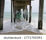 View From Underneath A Pier In...