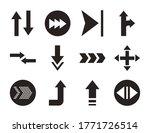 bundle of arrows set icons...