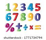 kids math cartoon number set.... | Shutterstock .eps vector #1771734794