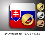 icon slovak flag with gold... | Shutterstock .eps vector #177174161