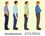 business  men waiting in line | Shutterstock .eps vector #177175511