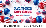 usa labor day sale poster... | Shutterstock .eps vector #1771760354