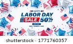 usa labor day sale poster... | Shutterstock .eps vector #1771760357