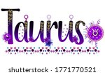 taurus. zodiac sign. moon sign. ...   Shutterstock .eps vector #1771770521