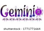 gemini. zodiac sign. moon sign. ...   Shutterstock .eps vector #1771771664