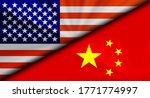 america usa vs china... | Shutterstock . vector #1771774997