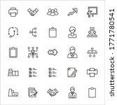 stroke line icons set of work.... | Shutterstock .eps vector #1771780541