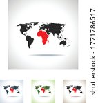 vector map of the africa | Shutterstock .eps vector #1771786517