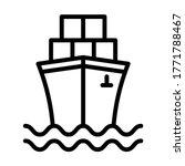 cargo ship icon  container ship....