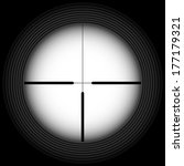 black and white crosshair with... | Shutterstock .eps vector #177179321