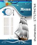 fish restaurant  cafe  menu 3d... | Shutterstock .eps vector #1771794764