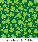 Vector Shamrock Seamless...