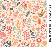 colorful spring seamless... | Shutterstock .eps vector #177180431
