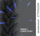christmas card with pine... | Shutterstock .eps vector #1771922234