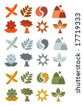 illustration of nature icons | Shutterstock . vector #17719333