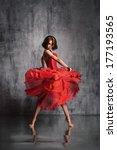 young beautiful dancer posing... | Shutterstock . vector #177193565