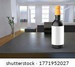 whiskey bottle with white label.... | Shutterstock . vector #1771952027