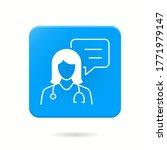 doctor icon. vector... | Shutterstock .eps vector #1771979147