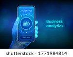 business data analytics and... | Shutterstock .eps vector #1771984814