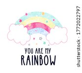you are my rainbow vector...   Shutterstock .eps vector #1772022797