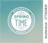 spring time inscription on...   Shutterstock .eps vector #177202835