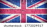 A Wall With Painted Uk Flag I...