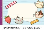 presentation template of cute... | Shutterstock .eps vector #1772031107