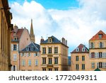 Antique building view in Old Town Metz, France