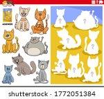 cartoon illustration of match... | Shutterstock .eps vector #1772051384