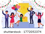 business team success concept.... | Shutterstock .eps vector #1772052374