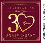 anniversary gold and dark red... | Shutterstock . vector #1772069771