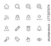 thin web icon set isolated on...