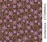 delicate purple wildflowers... | Shutterstock .eps vector #1772090411