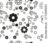 white background black circles... | Shutterstock .eps vector #177209054